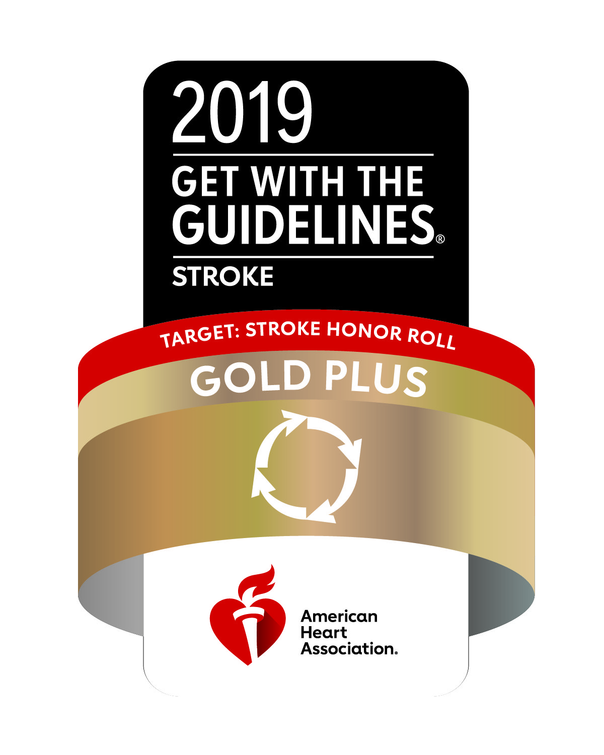 2019 Get with the guidelines target stroke honor roll gold plus logo